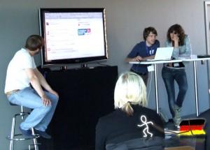 Das Wahlkampfarena-Team - Session auf dem pc09