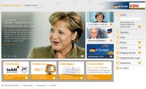 Startseite von cdu.de