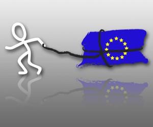 Wahlschlepper in Aktion zur EU Wahl